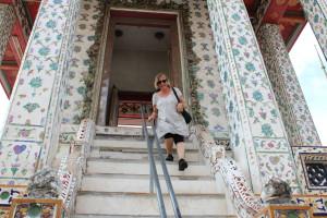 Temple stairs, Wat Arun, Bangkok