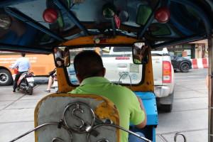 Driving tuk-tuk in Bangkok