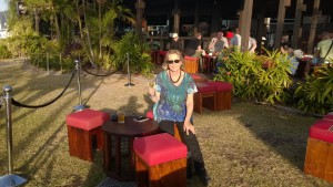 Evening sunshine in an outdoor cafe, Cairns