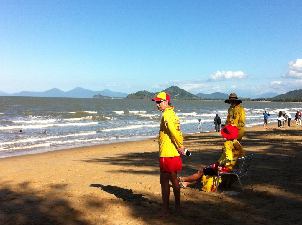 Life guards, beach of Palm Cove