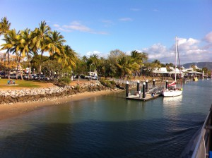 Arriving at Port Douglas