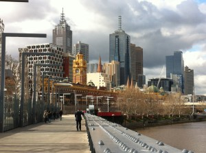 Flinders Street Station from Yarra bridge