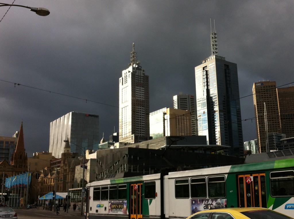 Melbourne Tram at Federation Square, Melbourne