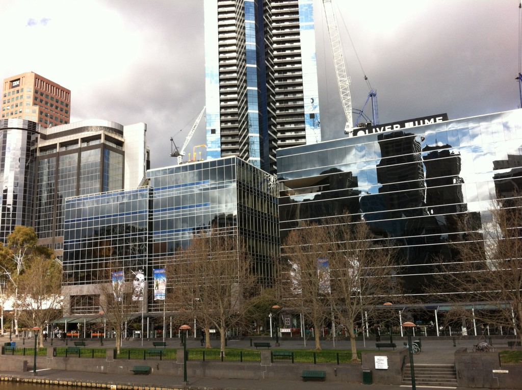 Southbank from Yarra river Melbourne