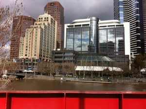 Southbank skyscrapers from Yarra river