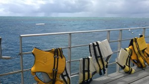 Life vests at Agincourt Reef