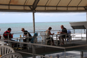 Lunch on Agincourt Reef pontoon