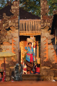 Bali temple in evening light