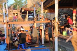 Bali temple musicians