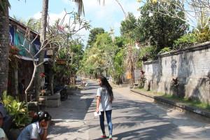 Balinese village road