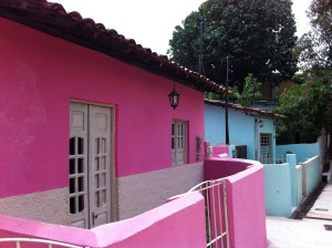 Colored houses in Olinda