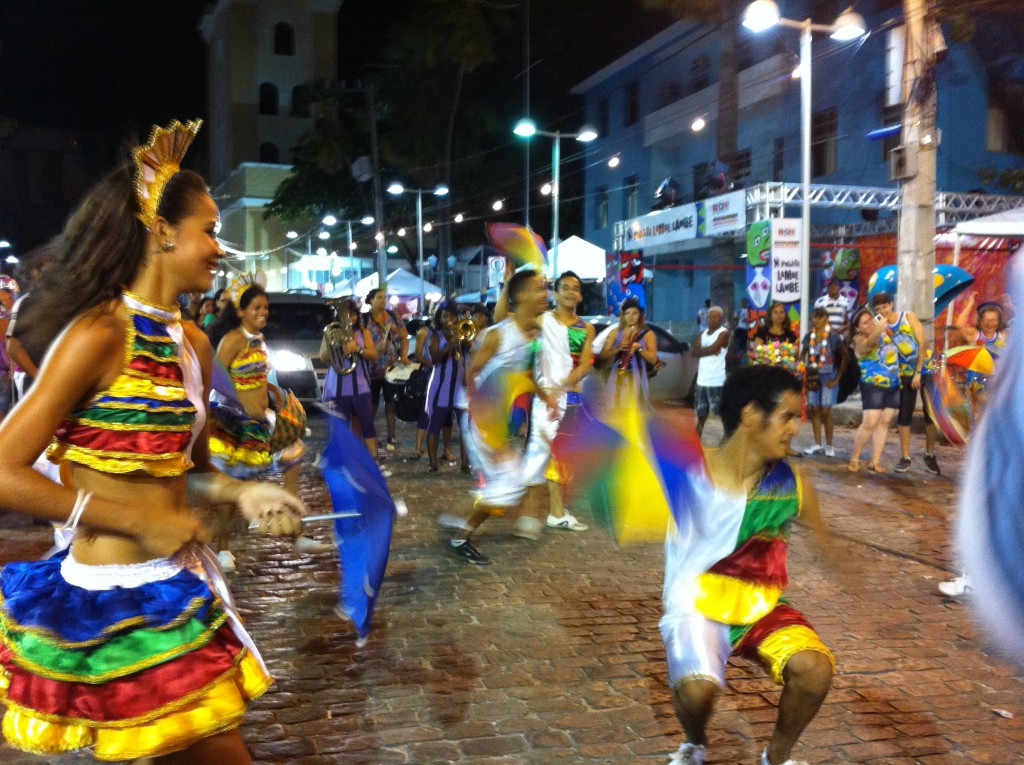 Dancers at Recife Carnival