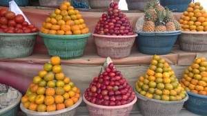 Fruits and tomatoes in Bali