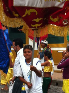 Olinda Carnival boys in parade