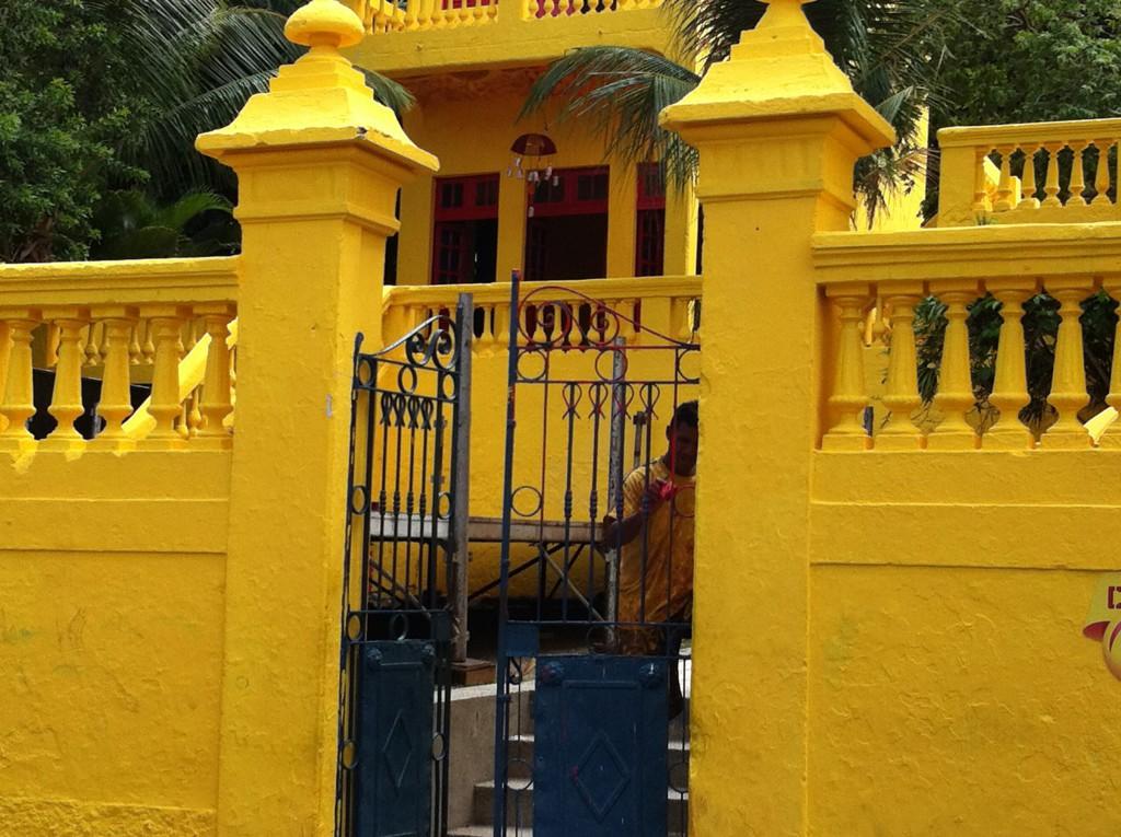 Olinda Carnival painting the gate