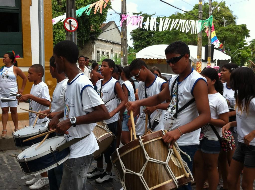 Olinda Carnival parade orchestra