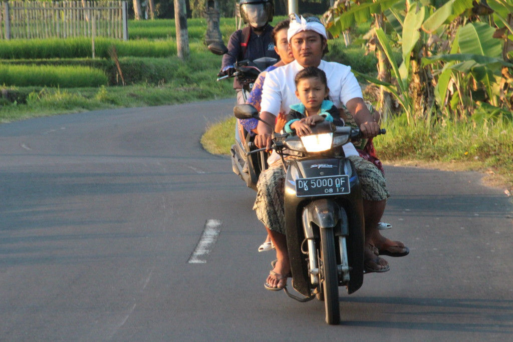 On the way to temple, central Bali day trip