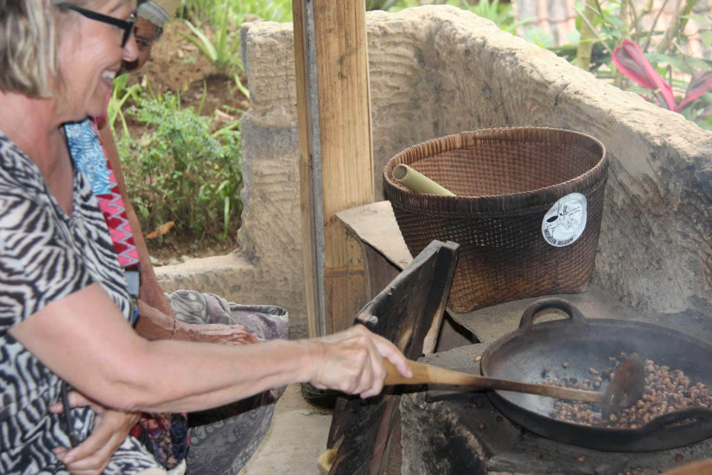Roasting coffee in Bali