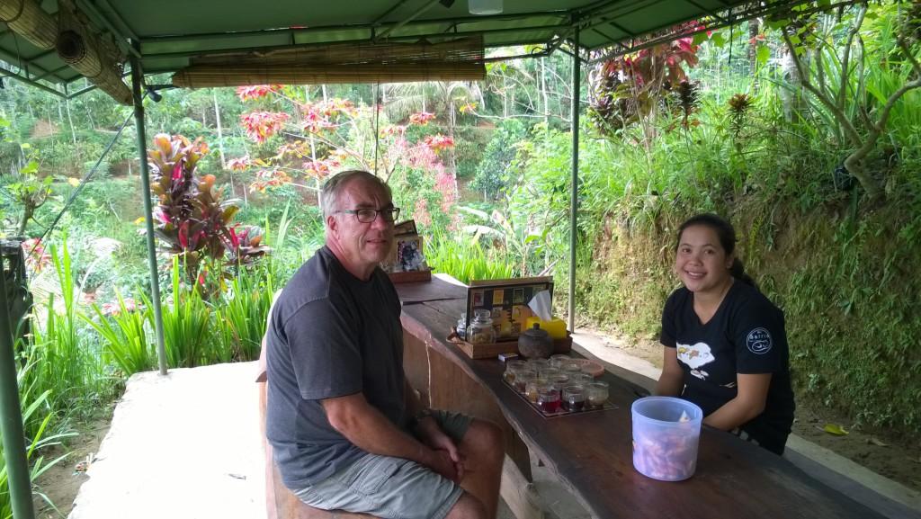 Tasting Balinese coffee