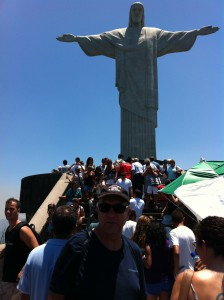 Christ the Redeemer and tourists