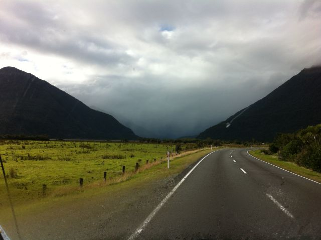 Driving from West Coast to Queenstown