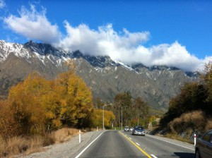 Driving to Kingston Lake Wakatipu