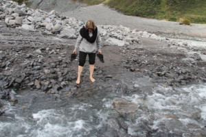 Fox Glacier river crossing