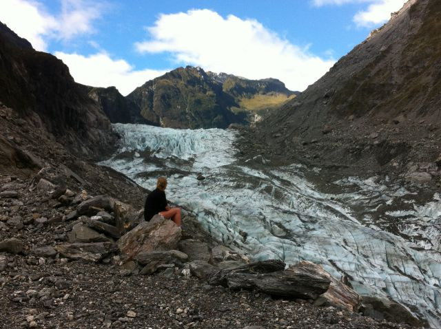 Fox Glacier visitor