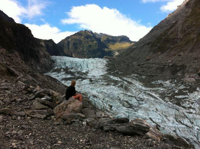 Fox Glacier visitor