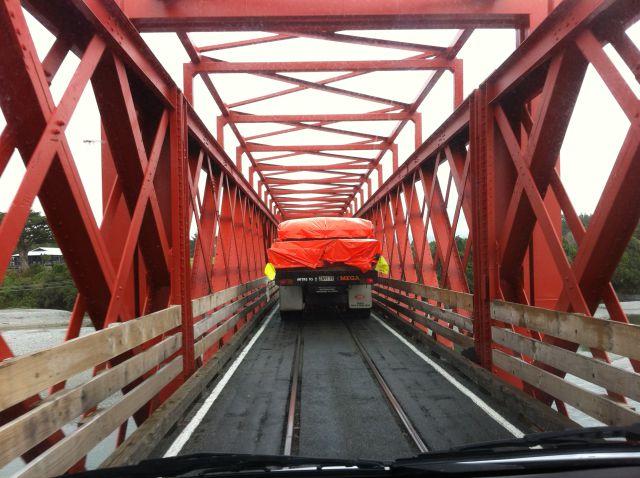 New Zealand campervan trip, a Greymouth bridge