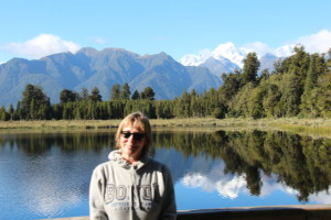 Lake Matheson visitor