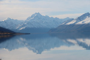 Lake Pukaki and snow-capped mountains