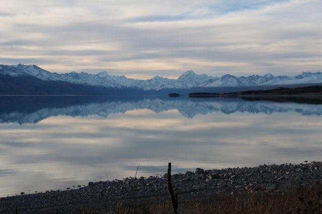Lake Pukaki in evening light