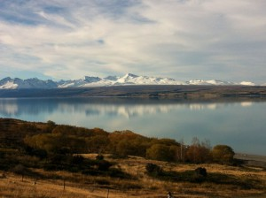 Lake Pukaki view New Zealand