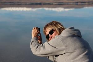 Photographing Lake Pukaki