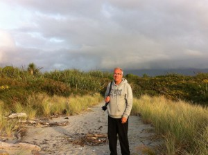 Walking on Haast beach
