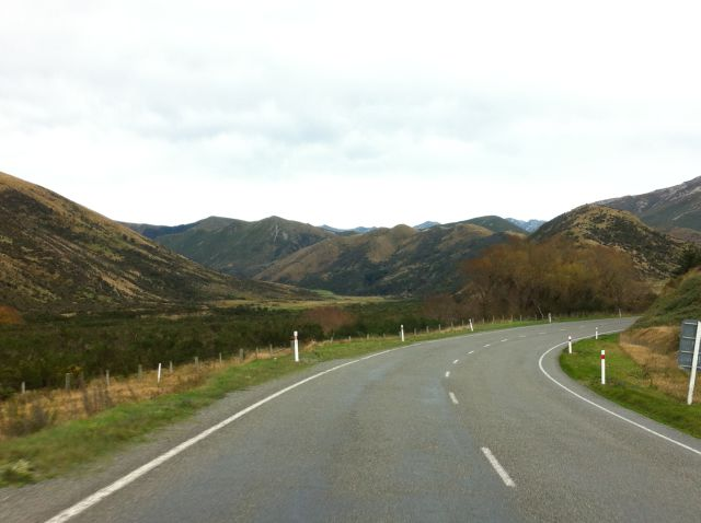 Winding road Christchurch to Greymouth