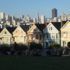 Alamo Square and San Francisco downtown