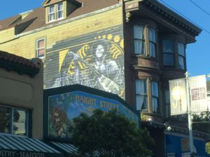 Haight Ashbury painted wall