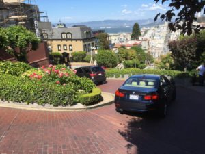 Lombard Street serpentine road