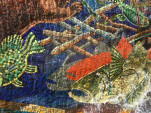 Napa California fountain mosaics