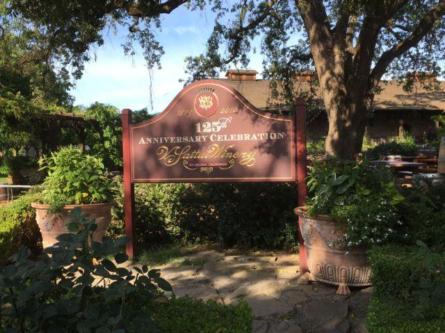 V Sattui Winery entrance