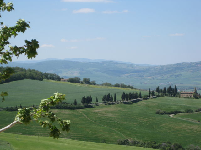 Monticchiello hill view