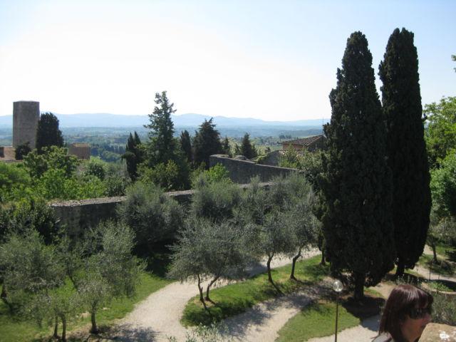 Toscana Scenic Drive San Gimignano hill view