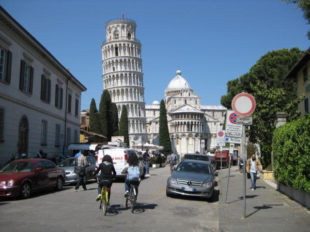 Tuscany scenic drive Pisa street view