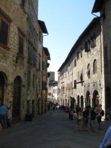 Tuscany Scenic Drive San Gimignano street