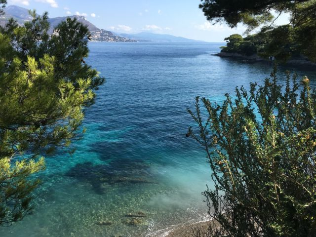 Cap-Ferrat-Saint-Jean Paloma beach from path