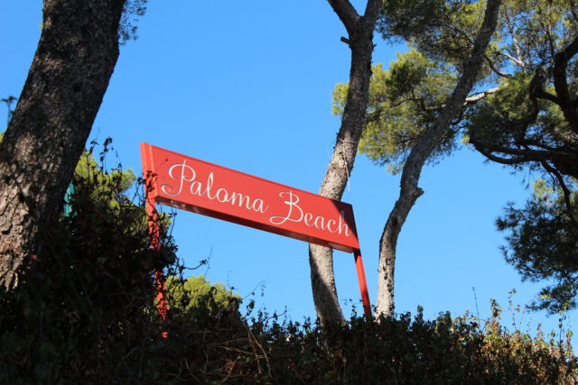 Cap-Ferrat-Saint-Jean Paloma beach sign