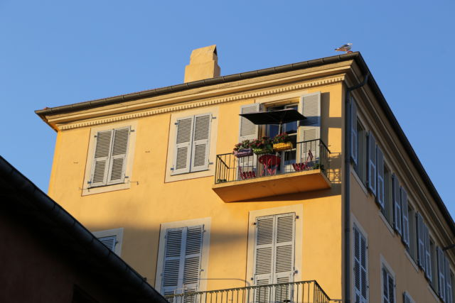 Nice, a balcony