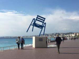 Nice beach chair statue